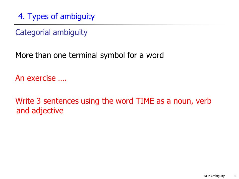 More than one terminal symbol for a word An exercise ….