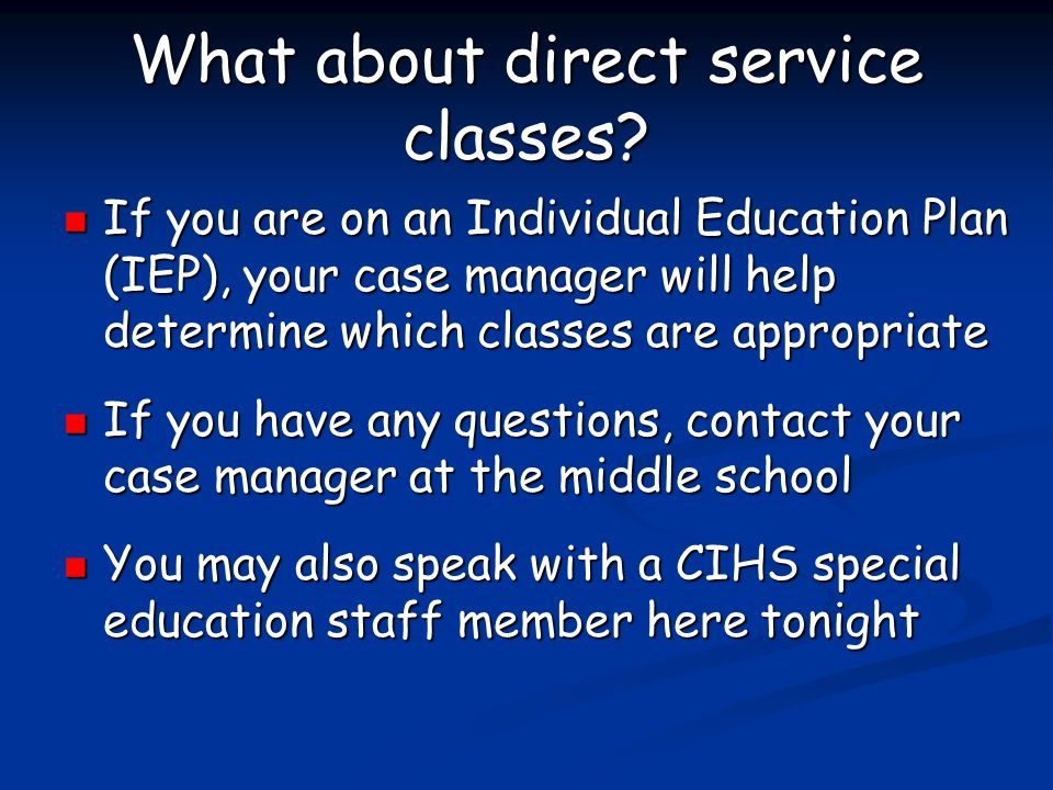 What about direct service classes