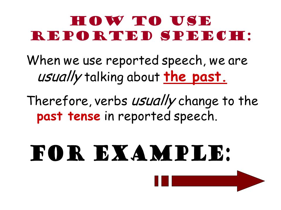 How to use reported speech:
