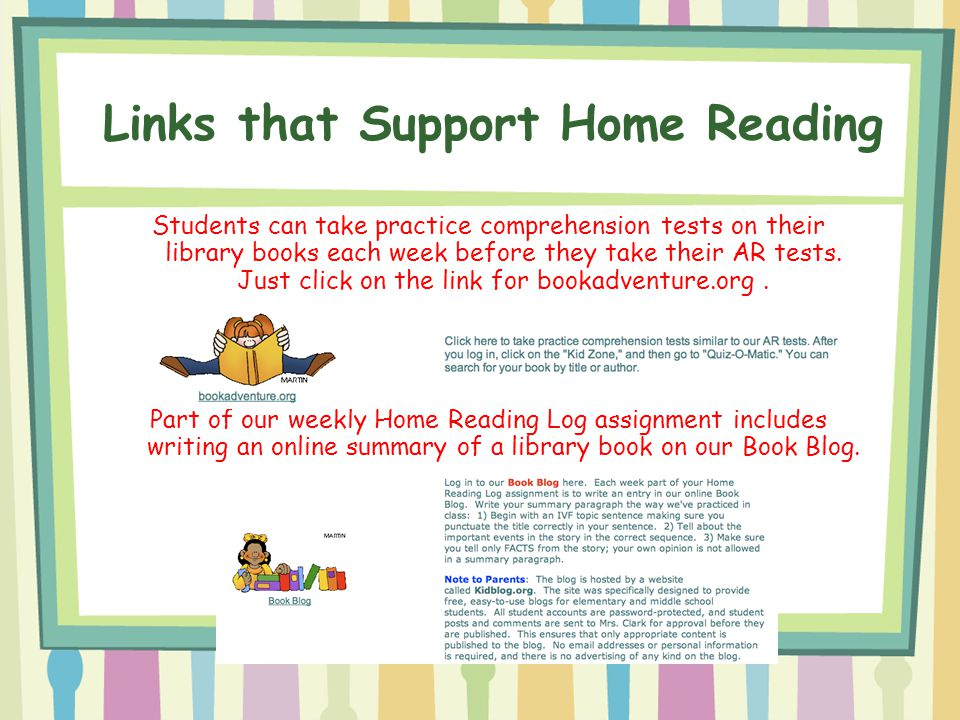Links that Support Home Reading