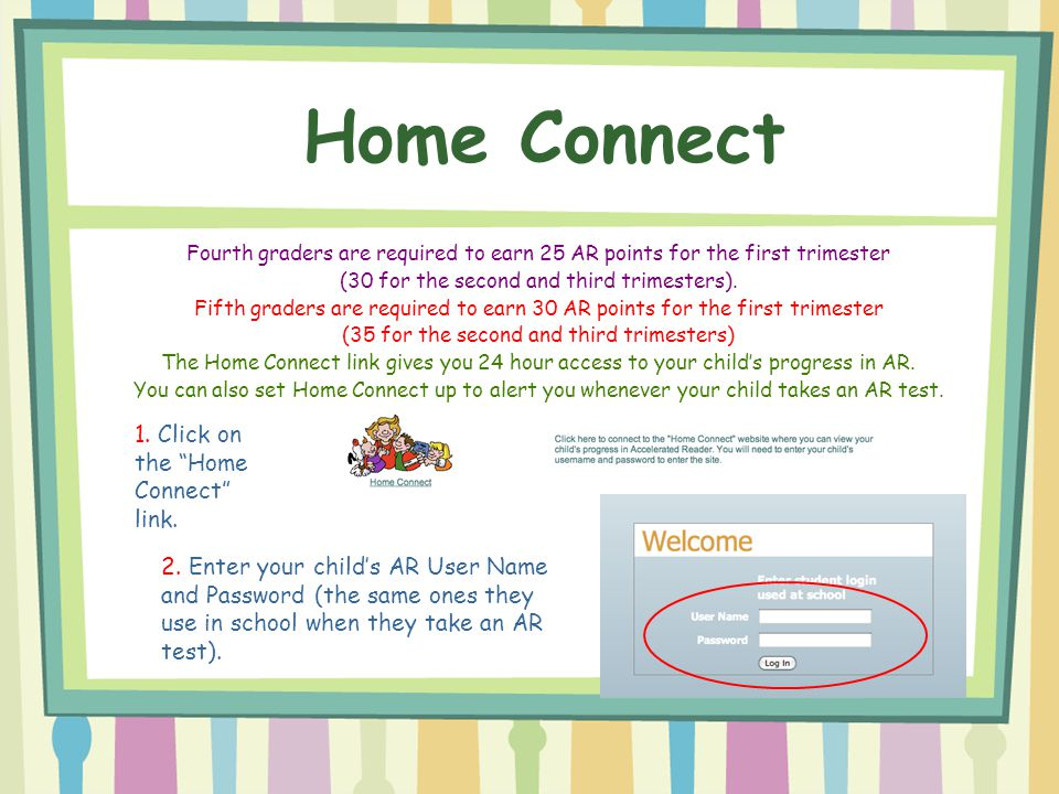 Home Connect 1. Click on the Home Connect link.