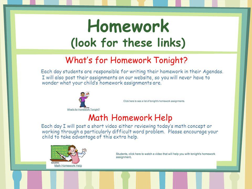 Homework help links