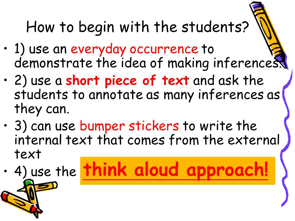 How to begin with the students