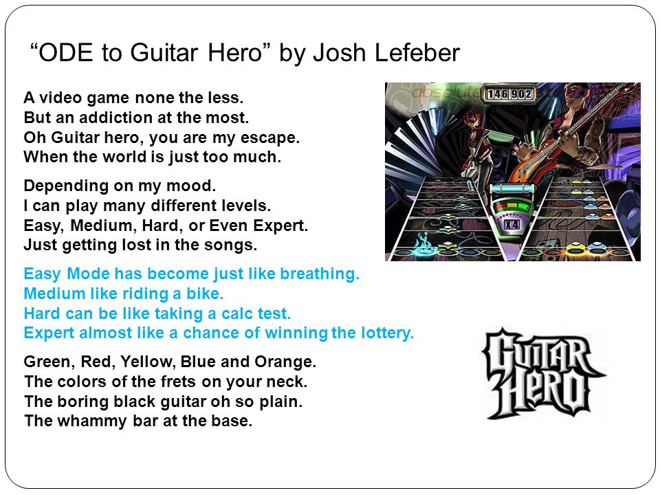 ODE to Guitar Hero by Josh Lefeber