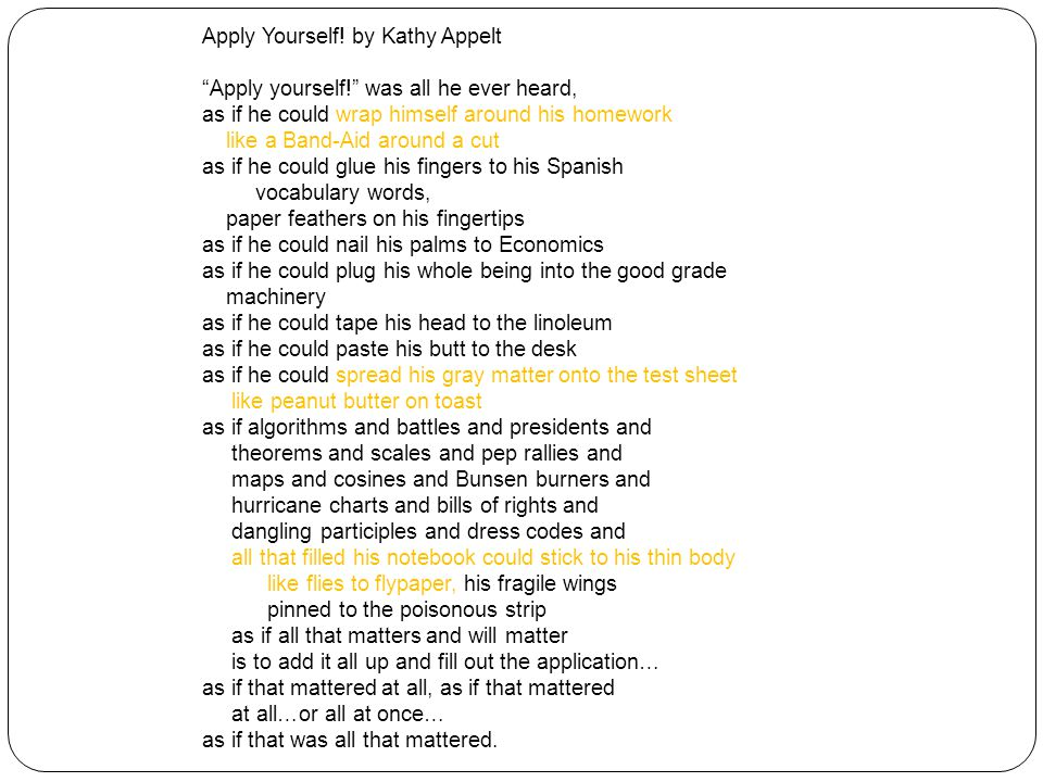 Apply Yourself! by Kathy Appelt