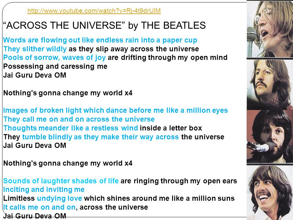 ACROSS THE UNIVERSE by THE BEATLES