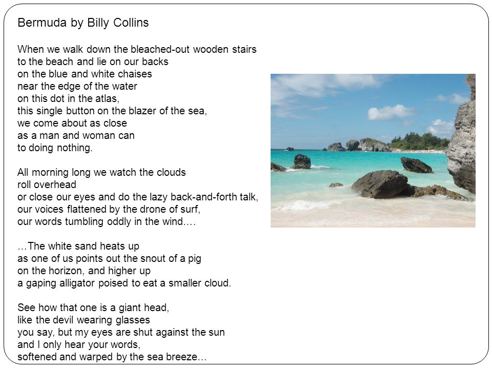 Bermuda by Billy Collins