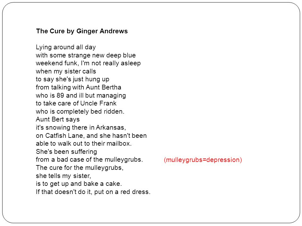 The Cure by Ginger Andrews