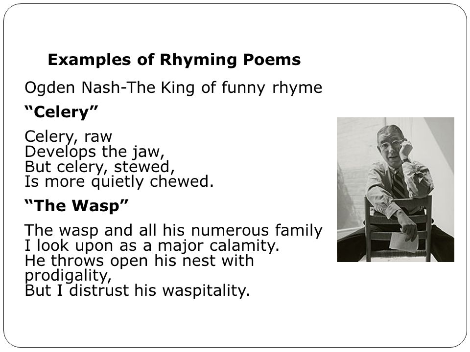 Examples of Rhyming Poems