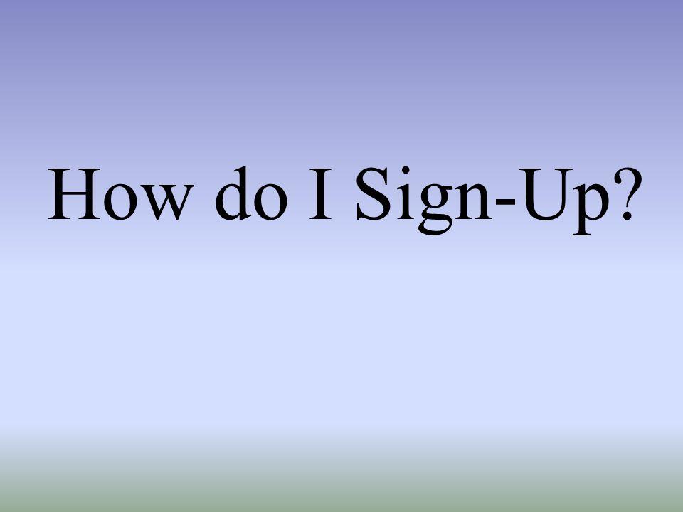 How do I Sign-Up