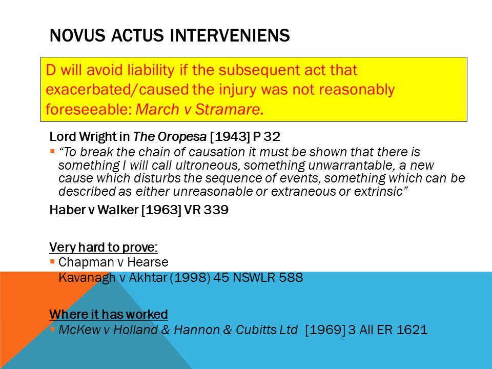 Novus actus interveniens