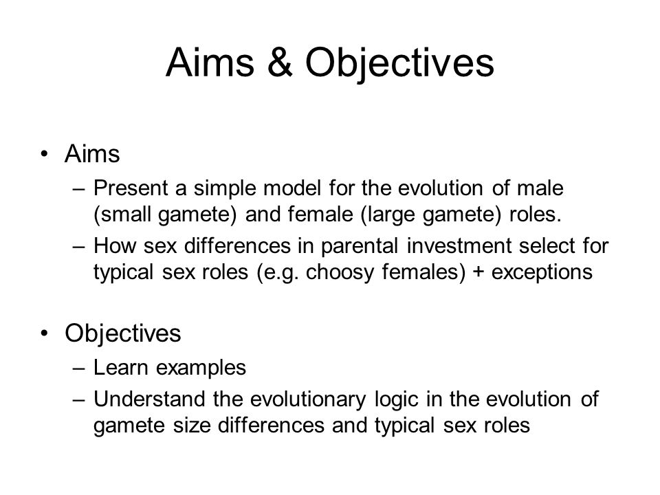 Aims & Objectives Aims Objectives