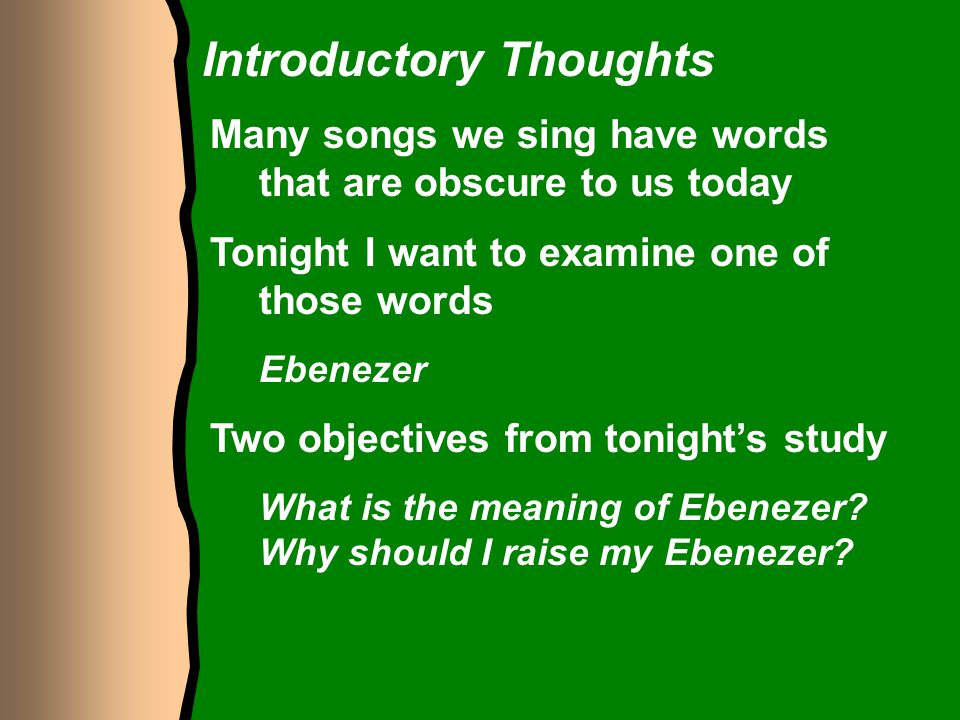 Introductory Thoughts