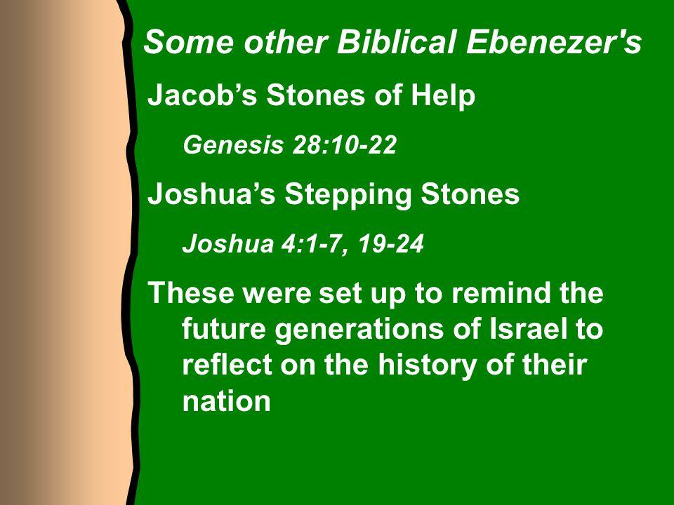Some other Biblical Ebenezer s