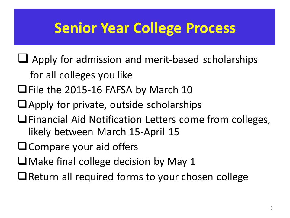 Senior Year College Process