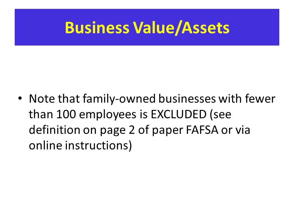 Business Value/Assets