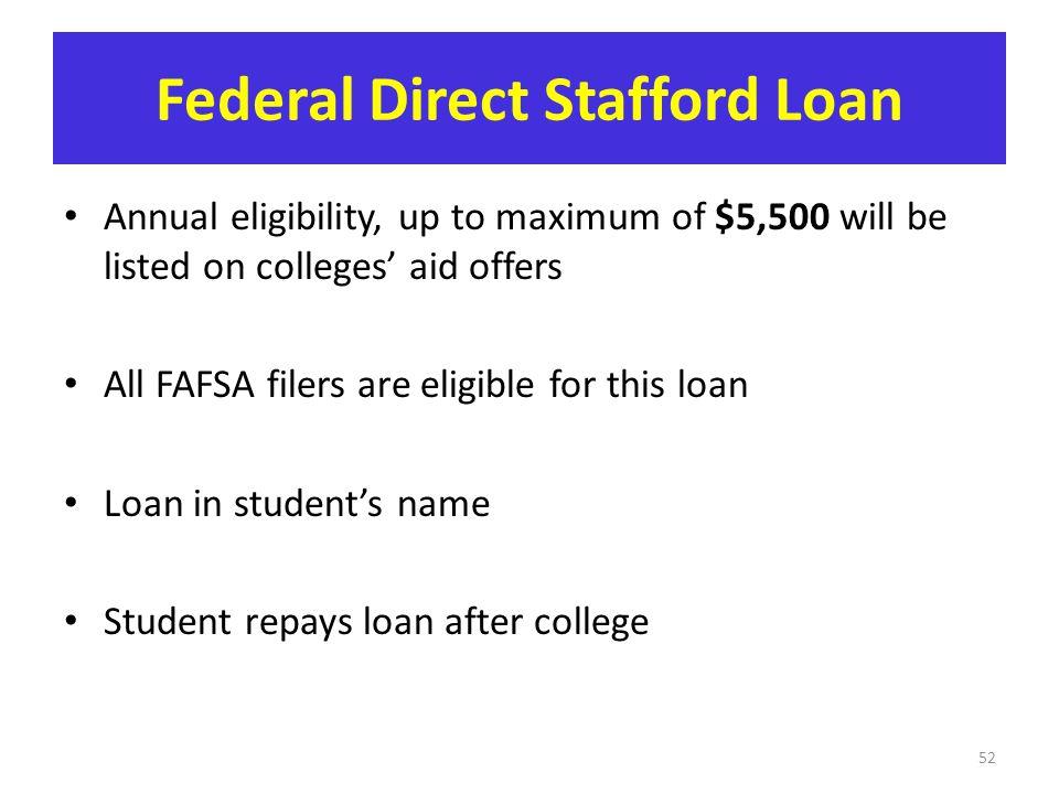 Federal Direct Stafford Loan