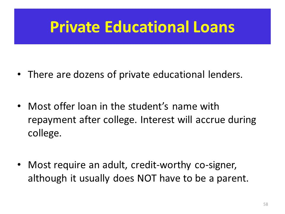 Private Educational Loans