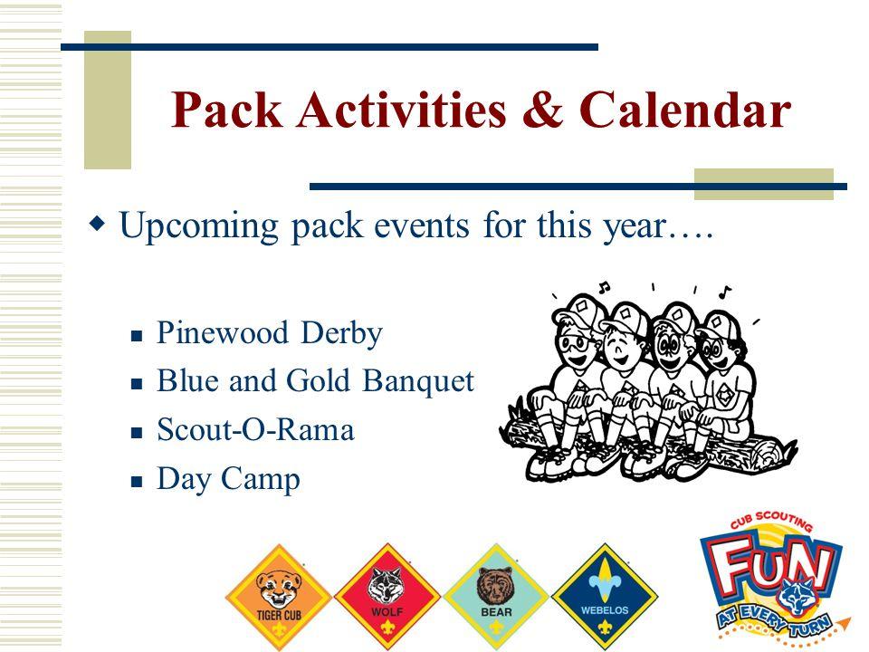 Pack Activities & Calendar