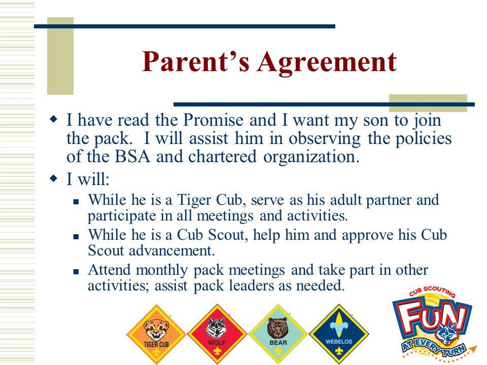 Parent's Agreement