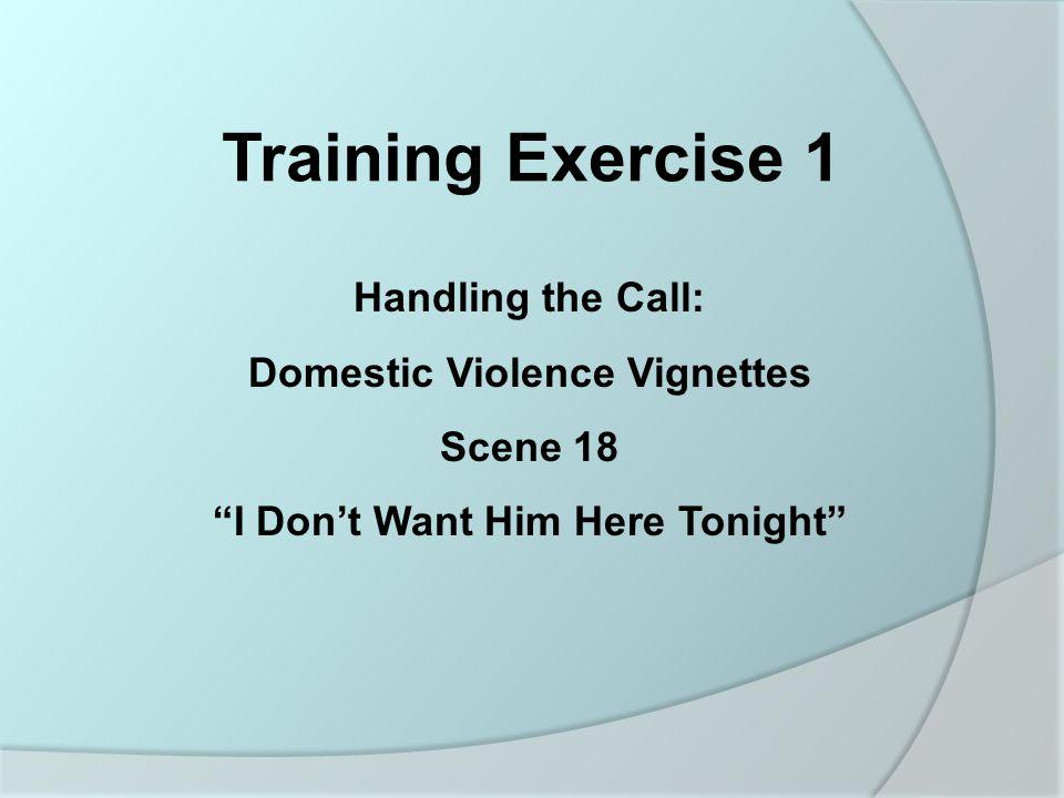Domestic Violence Vignettes
