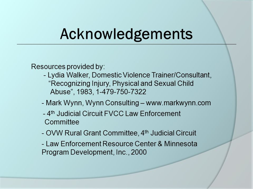 Acknowledgements Resources provided by: