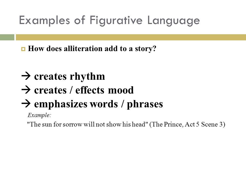 Examples of Figurative Language