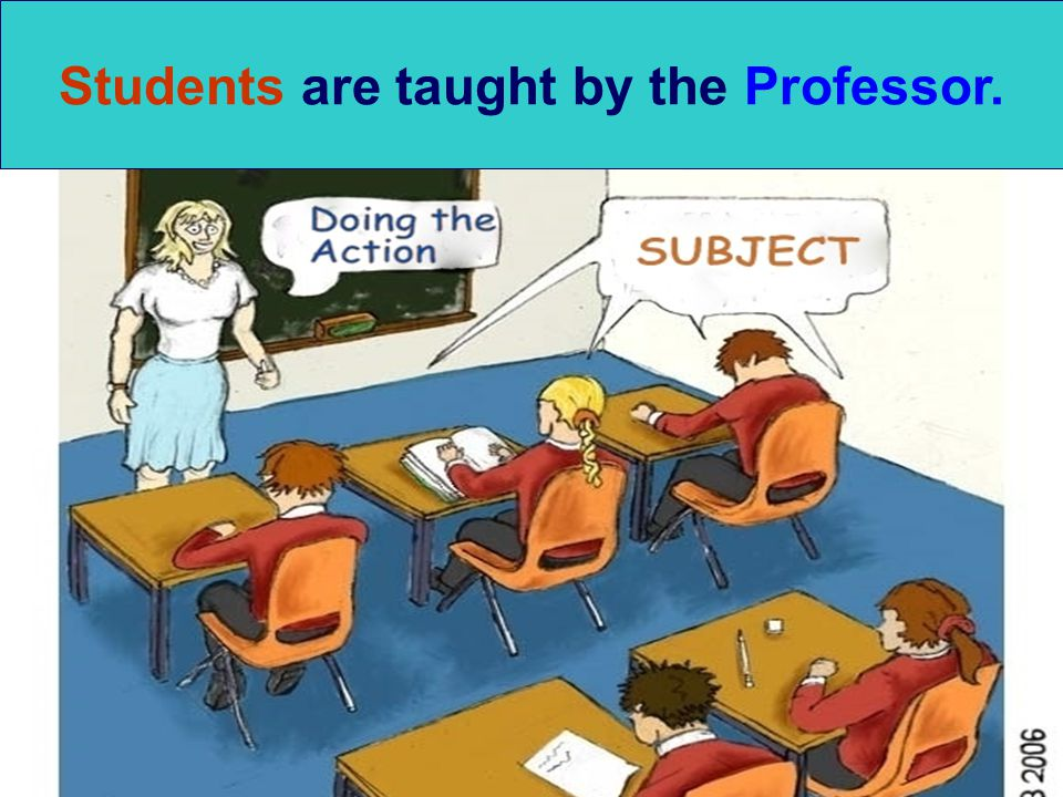 Students are taught by the Professor.