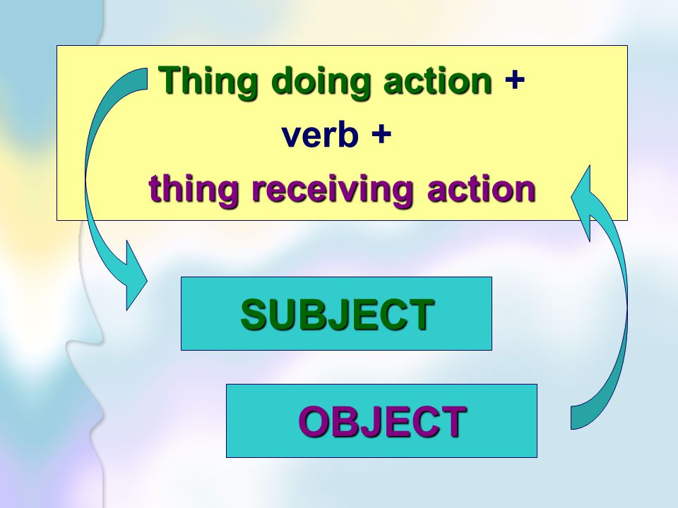 thing receiving action