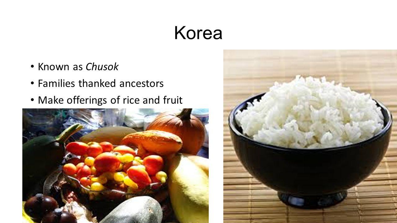Korea Known as Chusok Families thanked ancestors