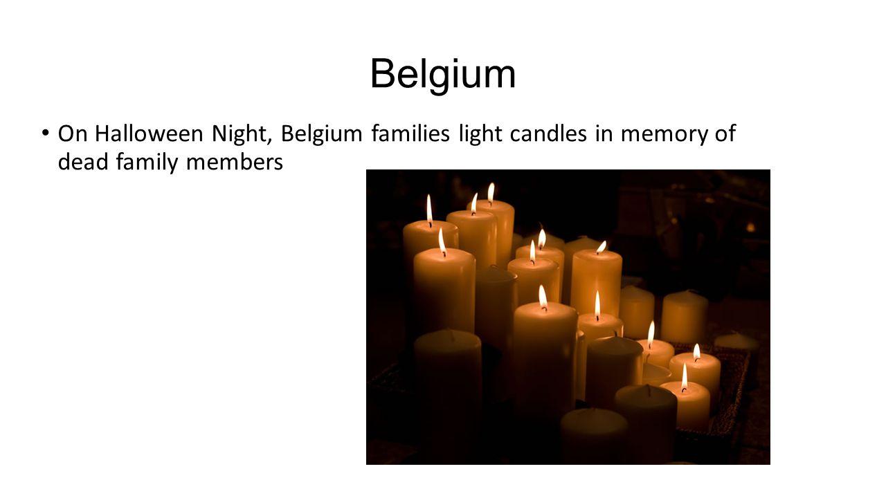 Belgium On Halloween Night, Belgium families light candles in memory of dead family members