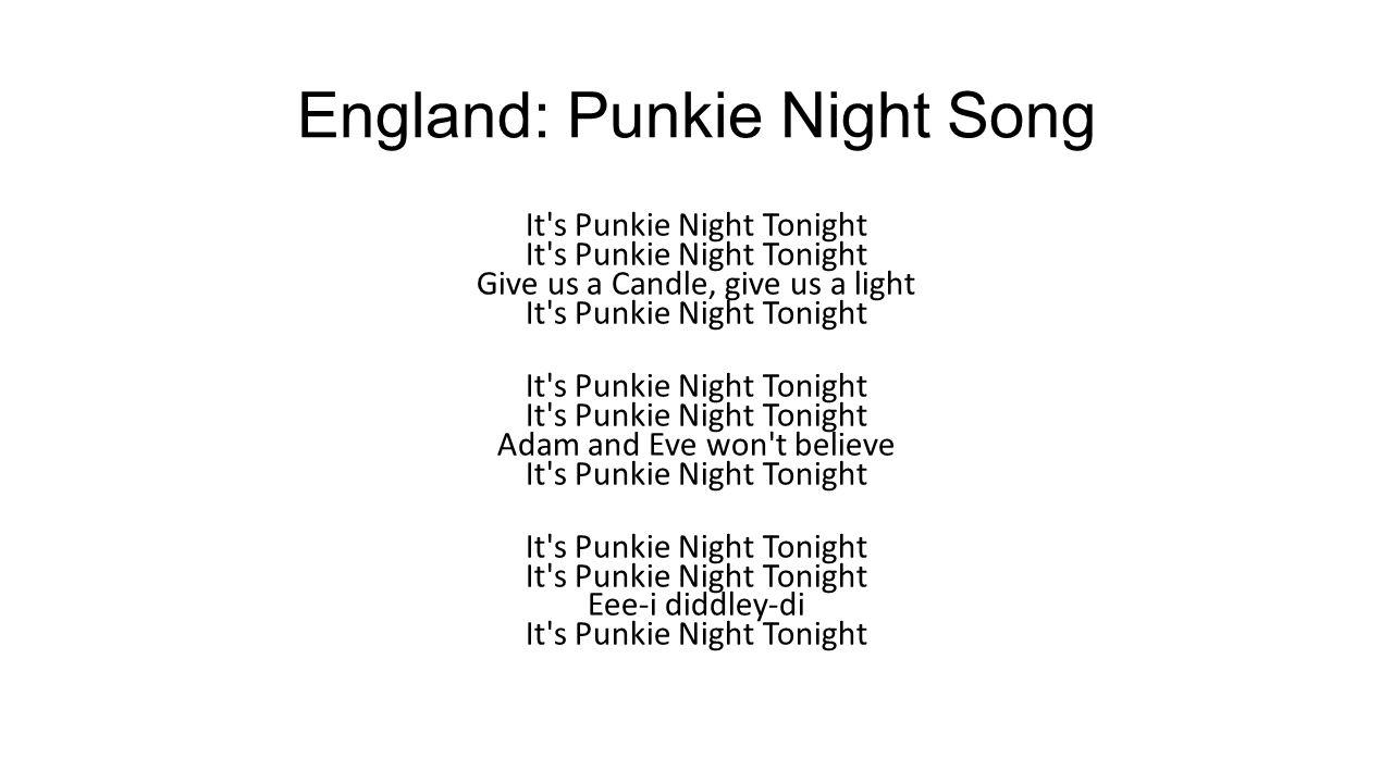 England: Punkie Night Song