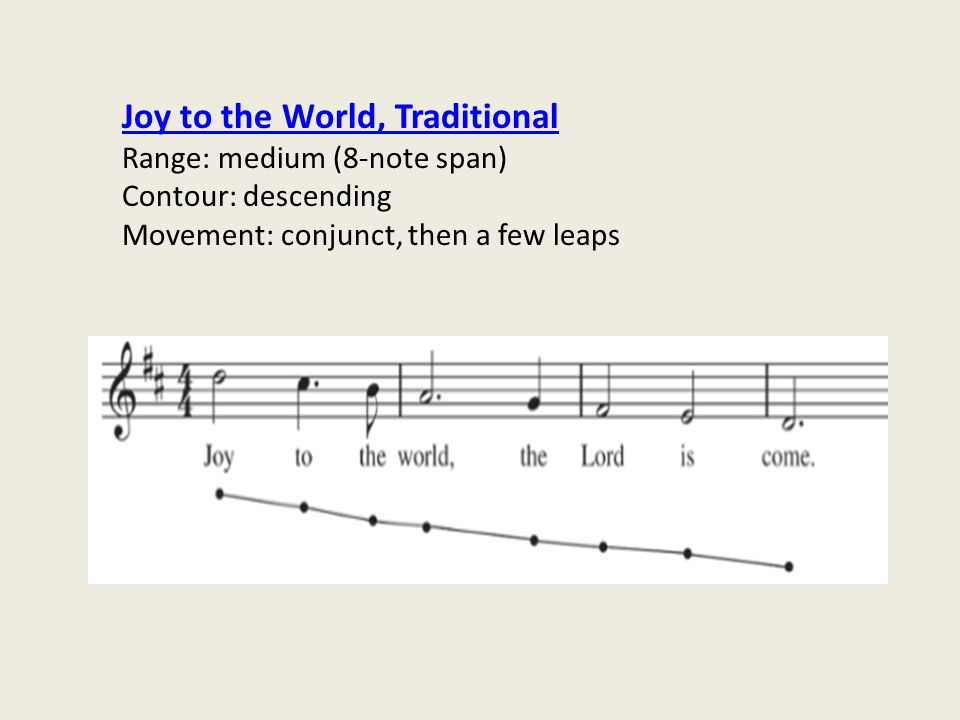 Joy to the World, Traditional