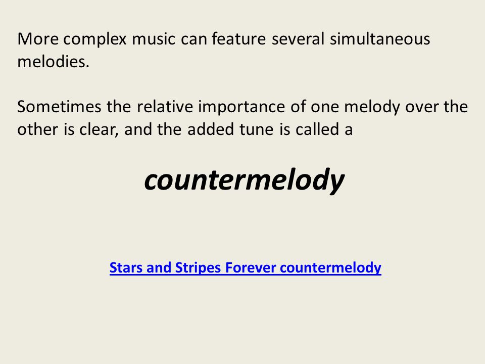 Stars and Stripes Forever countermelody