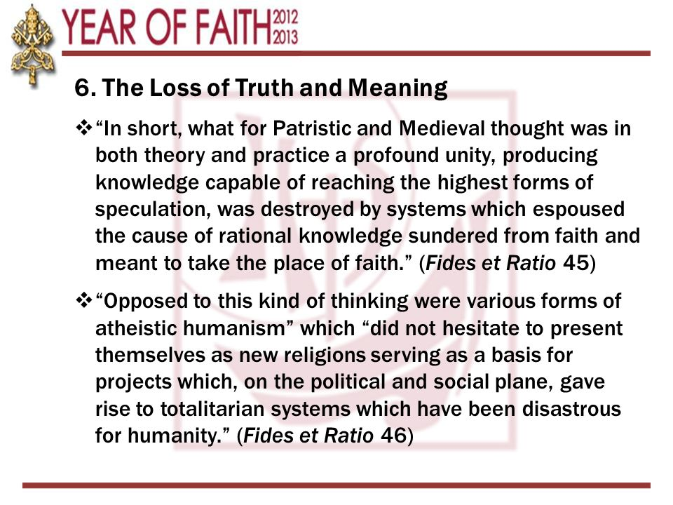 6. The Loss of Truth and Meaning