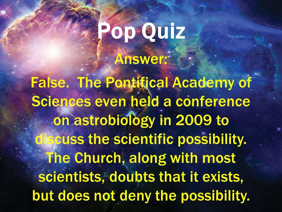 Pop Quiz Answer: