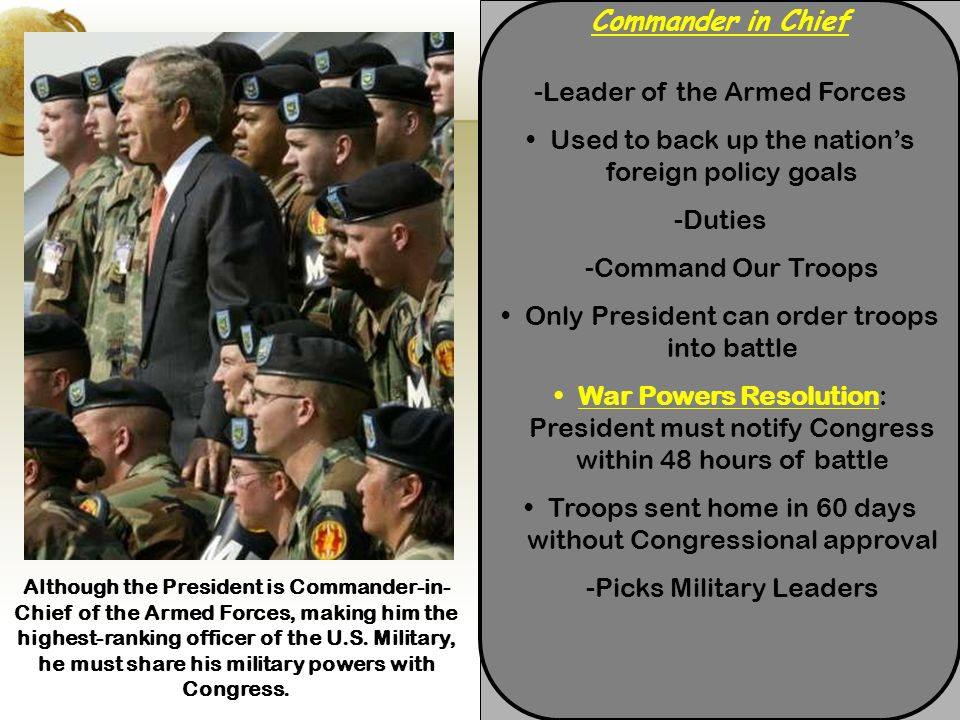 -Leader of the Armed Forces