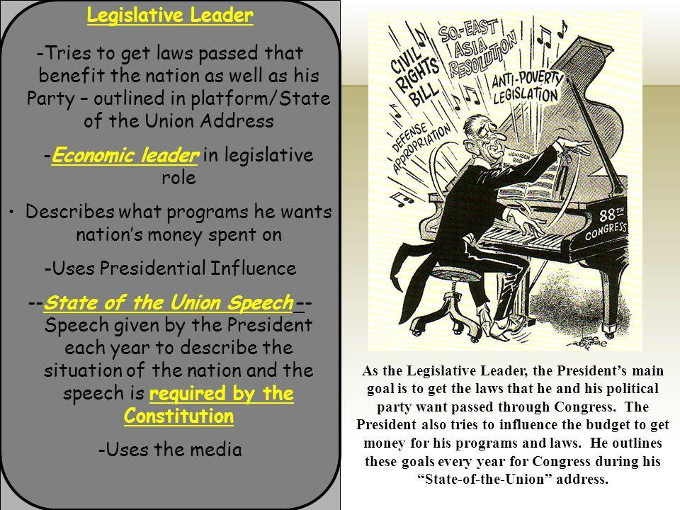 -Economic leader in legislative role