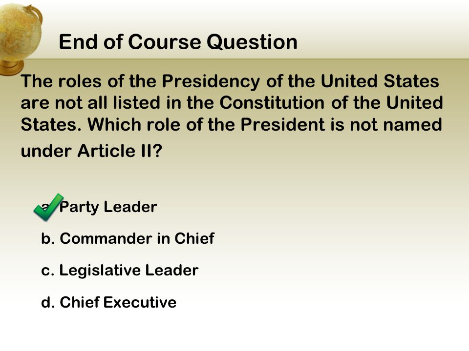 End of Course Question