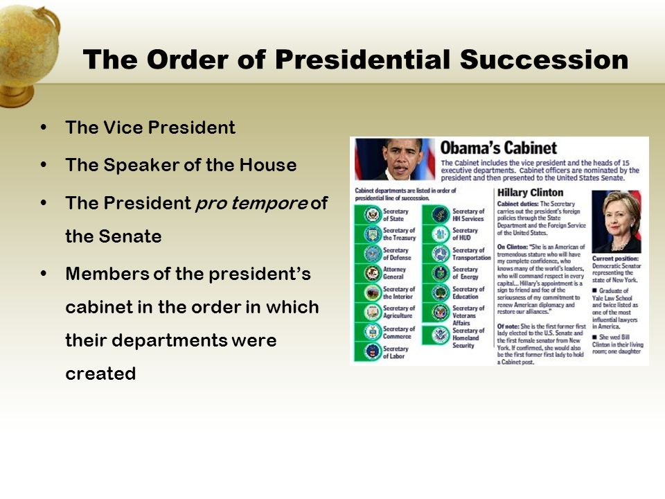 The Order of Presidential Succession