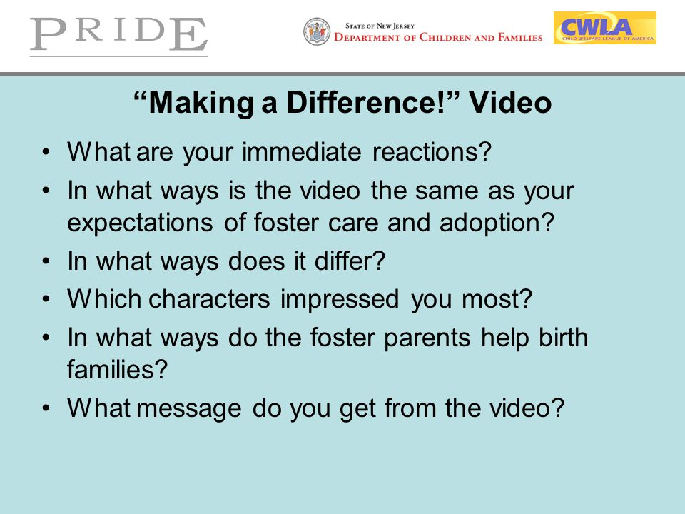 Making a Difference! Video