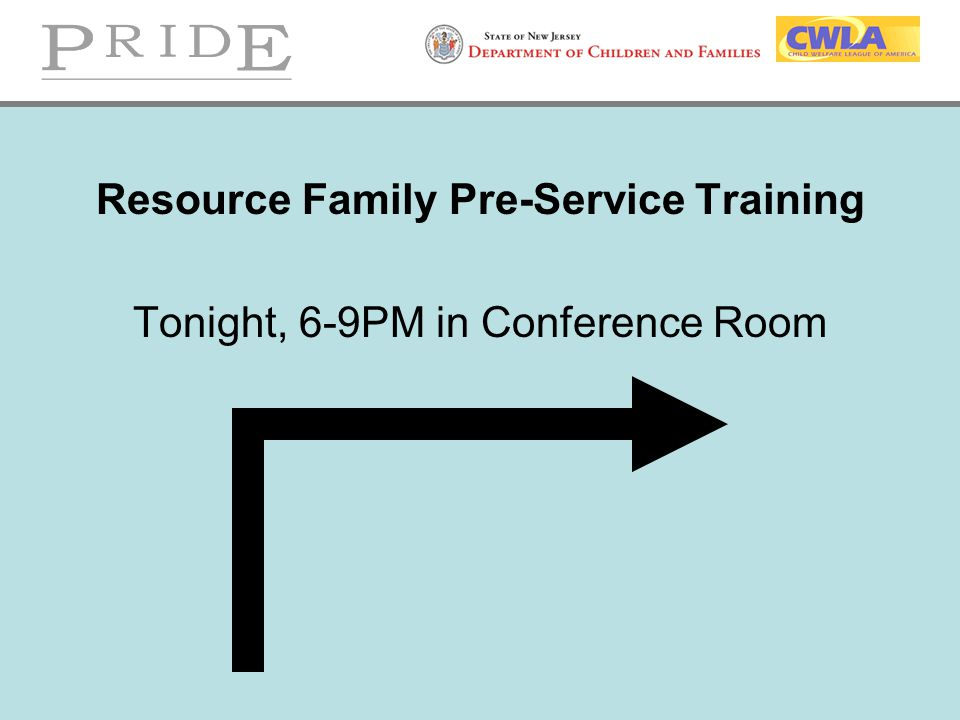 Resource Family Pre-Service Training