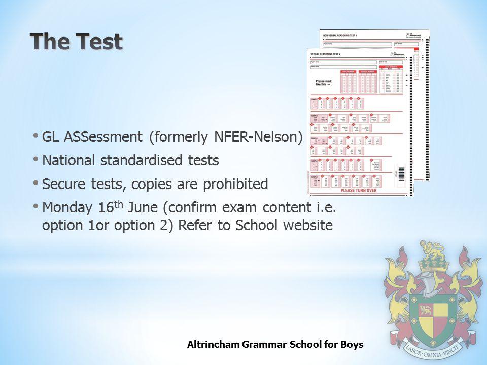 The Test GL ASSessment (formerly NFER-Nelson)
