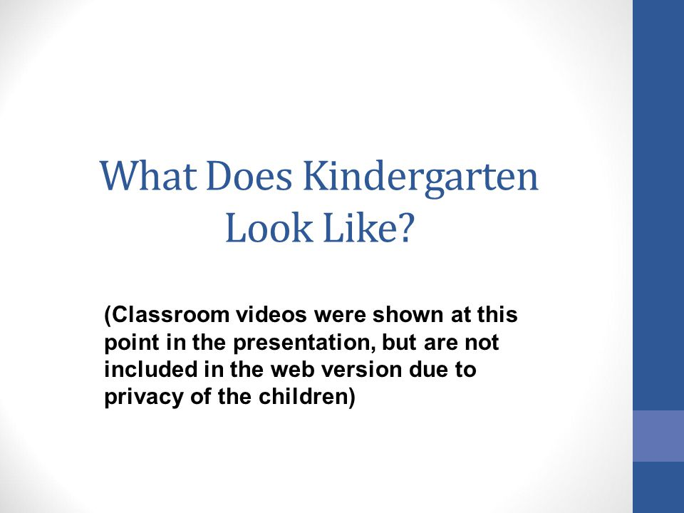 What Does Kindergarten Look Like