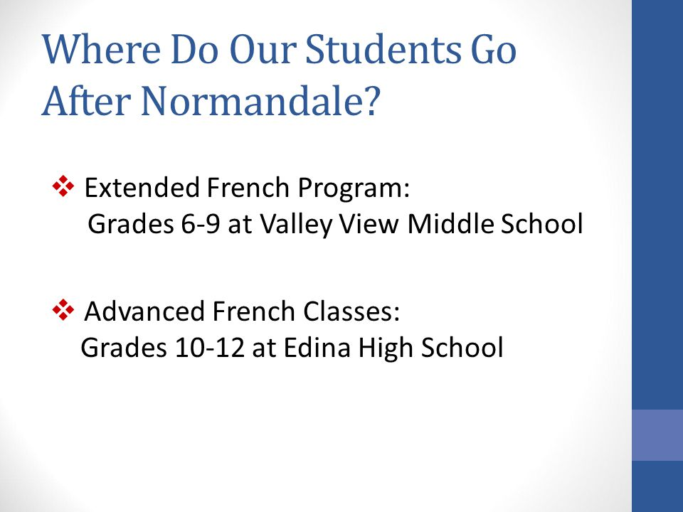 Where Do Our Students Go After Normandale