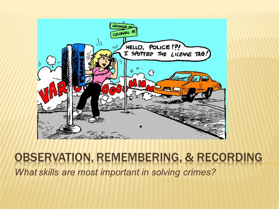 Observation, Remembering, & Recording