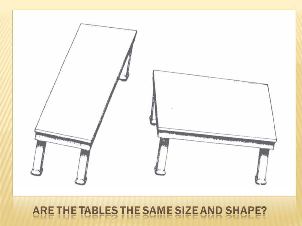 Are the tables the same size and shape