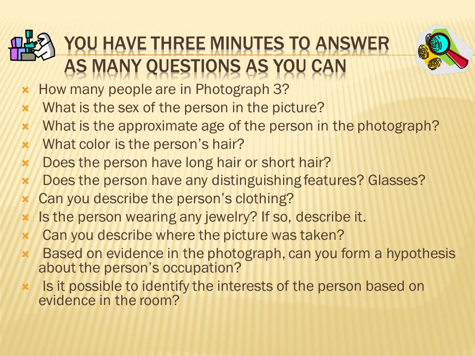 You have Three Minutes To answer as Many questions as you can