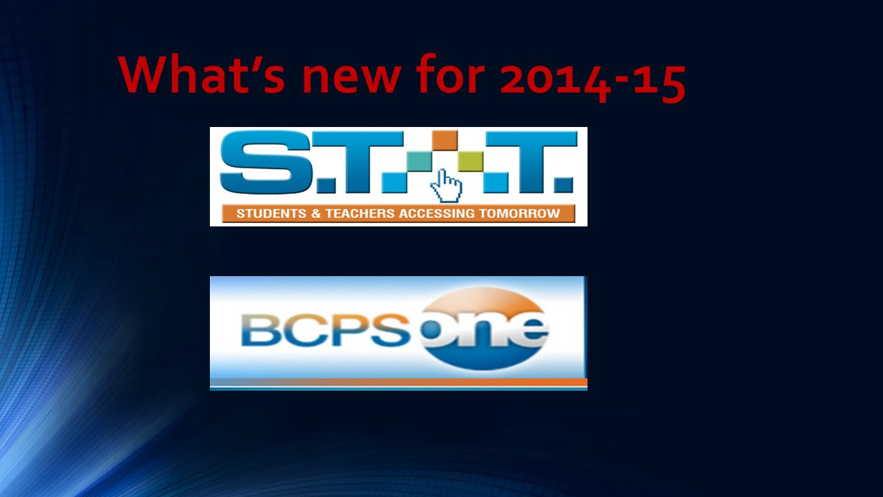 What's new for 2014-15