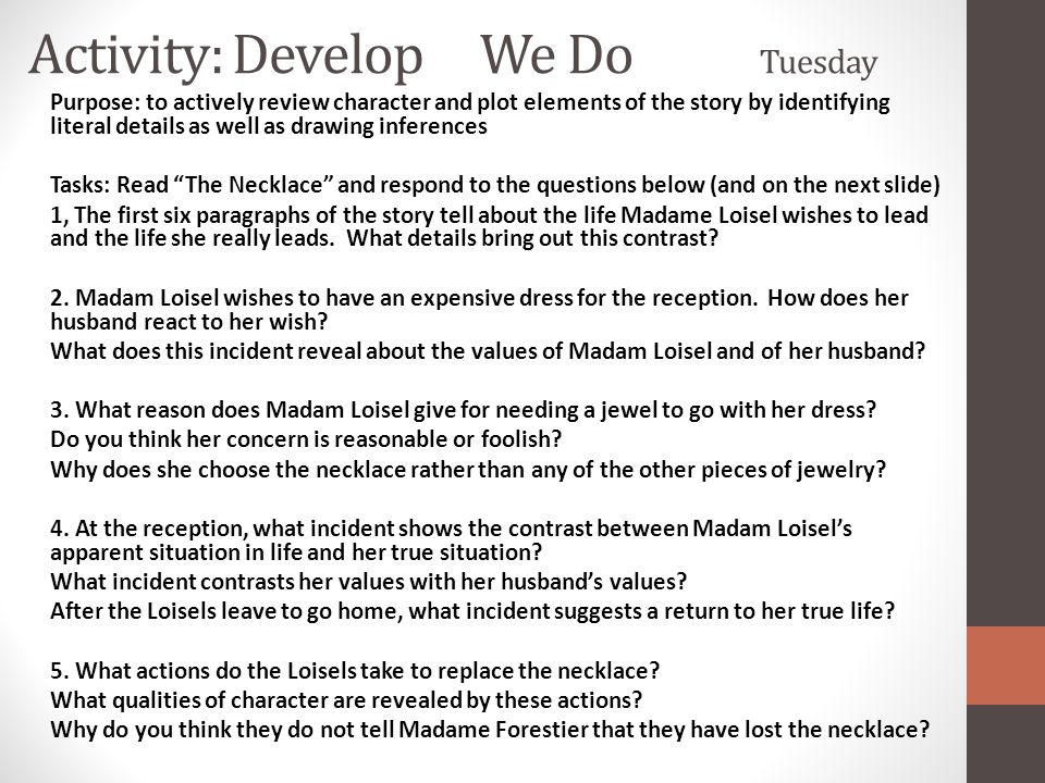 Activity: Develop We Do Tuesday